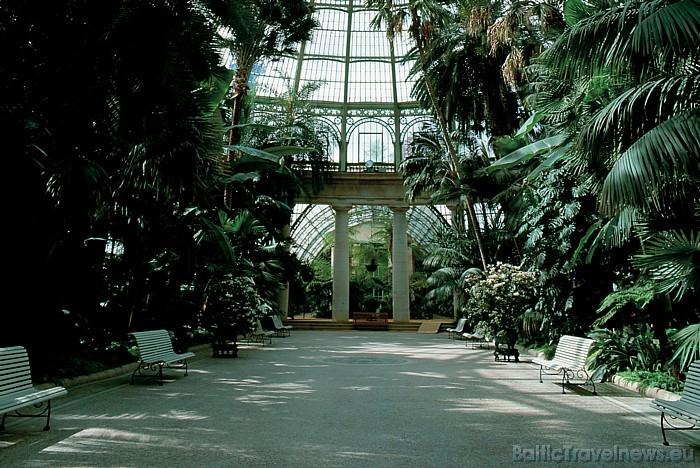 Pie Briseles karaliskās pils atrodas parka neoklasicisma stilā ieturētās siltumnīcas, kurās apskatāmi ziedi, rotondas un eksotiski augi Foto: Copyrig