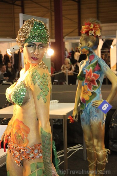 Skaistumkopšanas izstādes «Baltic Beauty 2012» konkursi  - «Body art 2012» un asociatīvā tēla konkurss. Foto sponsors: www.startours.lv