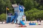 Karstais un saulainais laiks ir piepildījis Jūrmalas pludmali ar atpūtniekiem un tūristiem. Foto: Samsung Note8 5