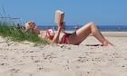 Karstais un saulainais laiks ir piepildījis Jūrmalas pludmali ar atpūtniekiem un tūristiem. Foto: Samsung Note8 13
