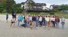 Vasaras saulgriežu laikā patriotiski noskaņoti cilvēki izgaismojuši Latviju, apejot tai apkārt 7