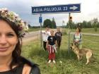 Vasaras saulgriežu laikā patriotiski noskaņoti cilvēki izgaismojuši Latviju, apejot tai apkārt 12