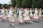 Dziesmu un deju svētku atklāšanas gājiens pulcē Rīgā visus Latvijas novadus (501-600) 91