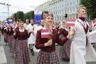 Dziesmu un deju svētku atklāšanas gājiens pulcē Rīgā visus Latvijas novadus (501-600) 94