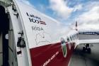 Latvijas nacionālā lidsabiedrība «airBaltic» 18. novembrī pirmo reizi piedalījās svinīgajā parādē ar «Airbus A220-300» lidmašīnu, kuru rotā sarkanbalt 14