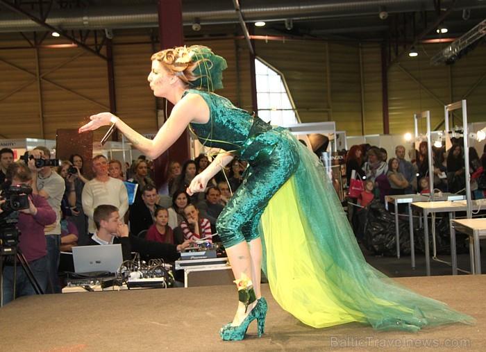 Skaistumkopšanas izstādes «Baltic Beauty 2012» konkursi  - «Body art 2012» un asociatīvā tēla konkurss. Foto sponsors: www.startours.lv 84300