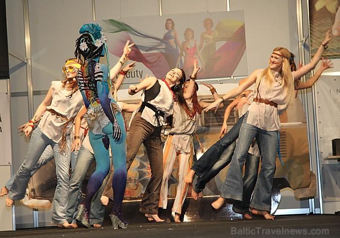 Skaistumkopšanas izstādes «Baltic Beauty 2012» konkursi  - «Body art 2012» un asociatīvā tēla konkurss. Foto sponsors: www.startours.lv 84314